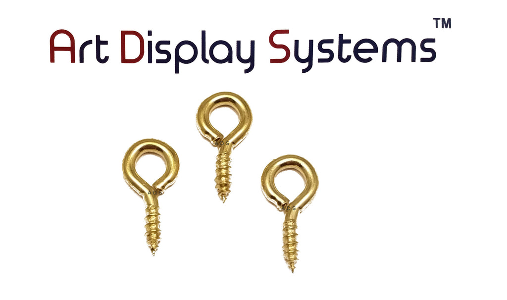 ADS 216-1/2 BP Screw Eye - 50 Pack - ART DISPLAY SYSTEMS