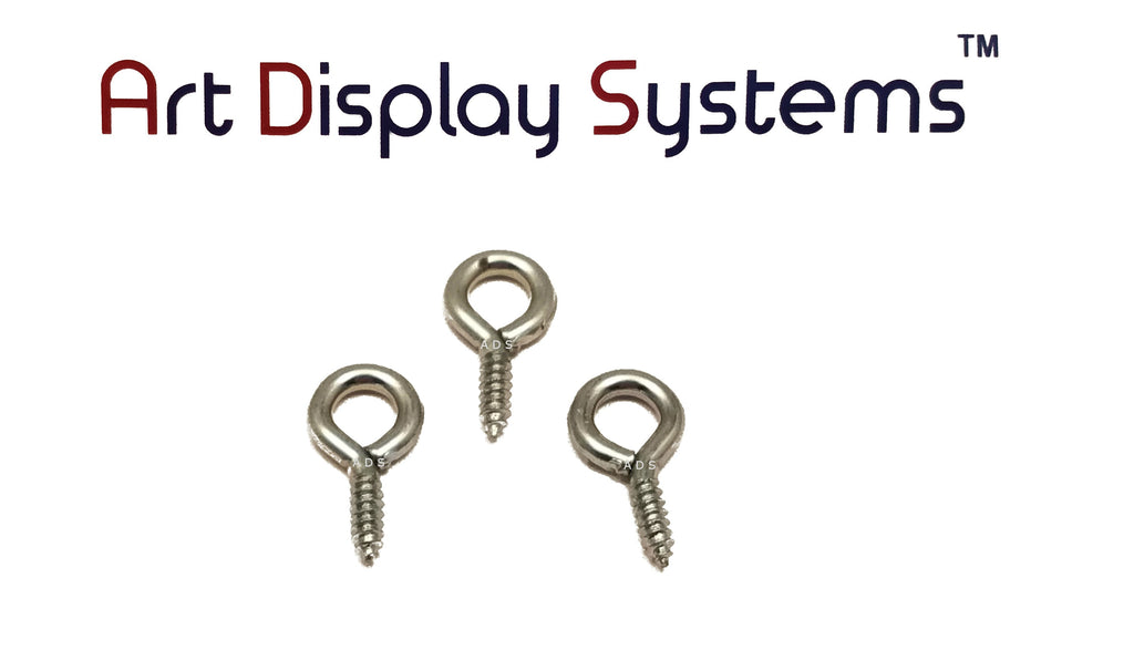 ADS 216-1/2 ZP Screw Eye - 100 Pack - ART DISPLAY SYSTEMS