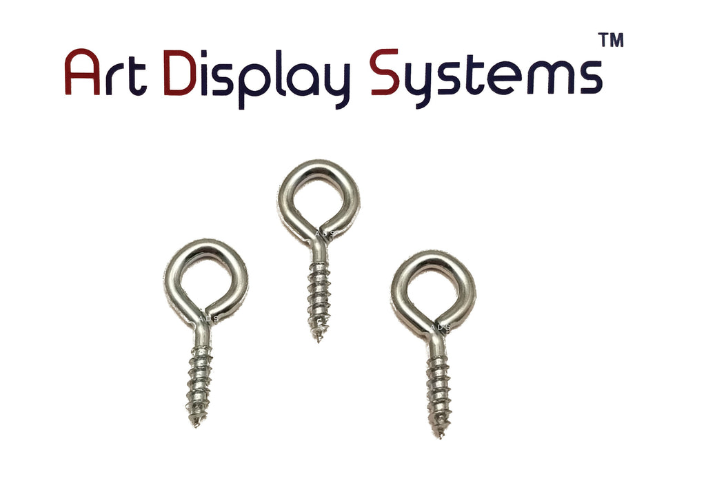 ADS 216 Long Shank ZP Screw Eye - 100 Pack - ART DISPLAY SYSTEMS