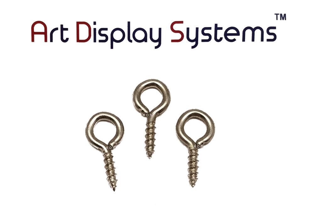 ADS 217-1/2 ZP Screw Eye - 100 Pack - ART DISPLAY SYSTEMS