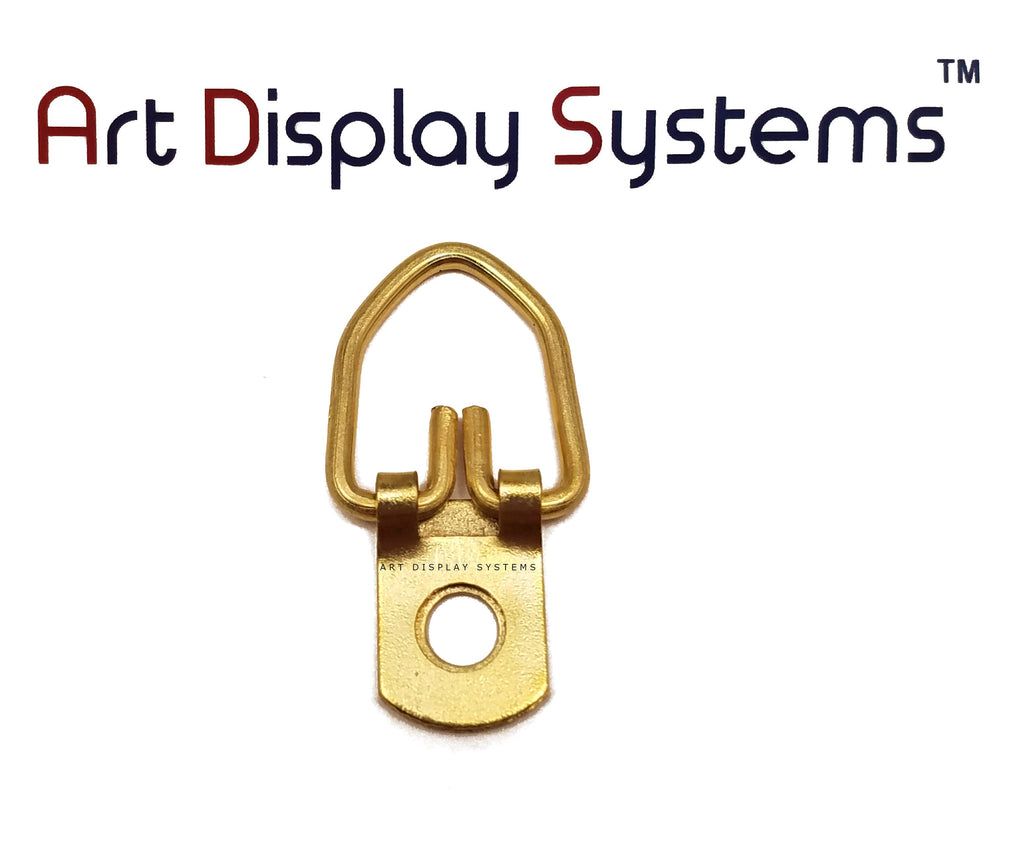 Art Display Systems 1 Hole Narrow BP D-Ring Hanger– No Screws – Pro Quality – 100 Pack - ART DISPLAY SYSTEMS