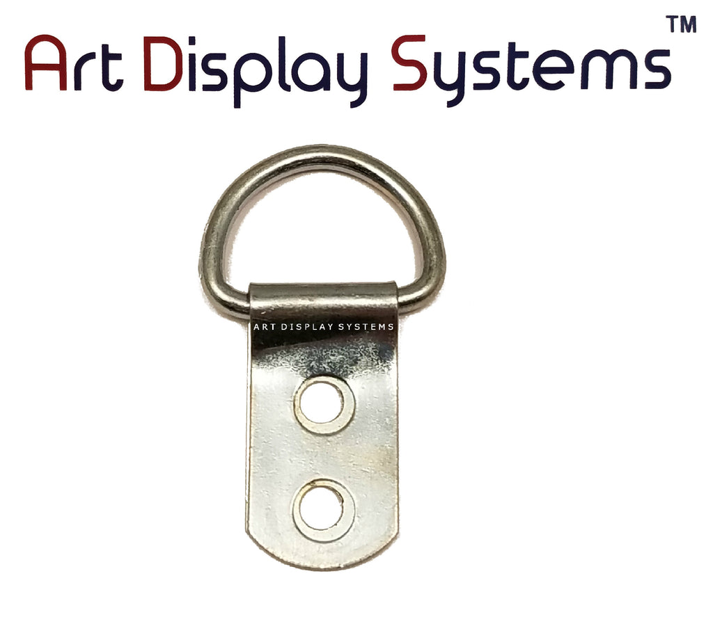 ADS 2 Hole Heavy Duty ZP D-Ring Hanger – No Screws – 50 Pack - ART DISPLAY SYSTEMS