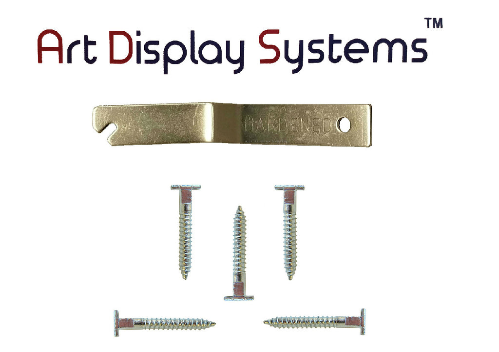 ADS T-Screw / T-Head Security Screw for T-Lock Picture Security Hardware - 25 Pack with Free Wrench - ART DISPLAY SYSTEMS