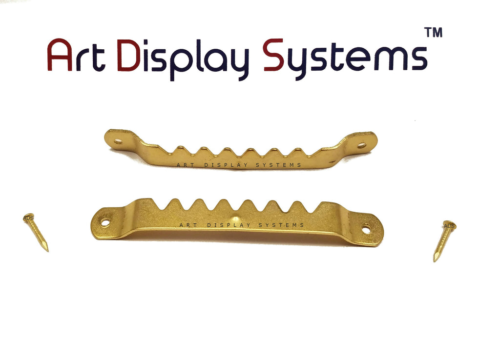 Art Display Systems Large BP Sawtooth Hanger with Nails – Pro Quality – 50 Pack - ART DISPLAY SYSTEMS