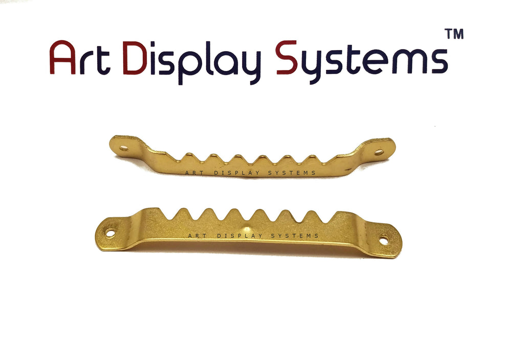 Art Display Systems Large BP Sawtooth Hanger – No Nails – Pro Quality – 100 Pack - ART DISPLAY SYSTEMS