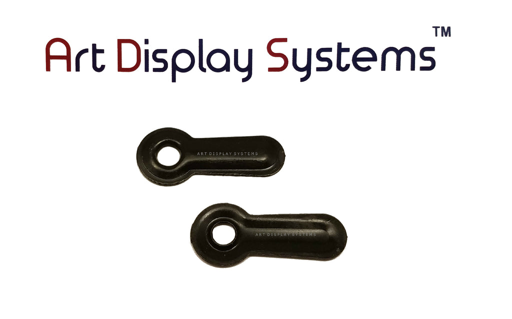 "ADS 3/4"" Inch Ridged BLK Turnbutton - No Screws - 100 Pack - ART DISPLAY SYSTEMS"