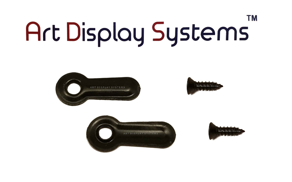 "ADS 3/4"" Inch Ridged BLK Turnbutton - 100 3-3/8"" BLK Screws - 100 Pack - ART DISPLAY SYSTEMS"