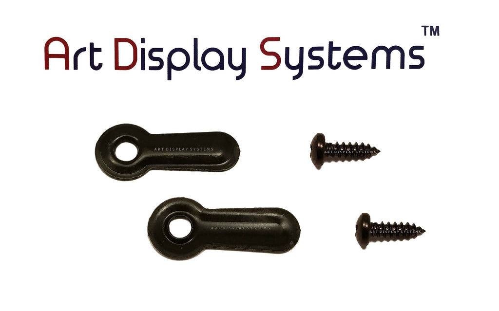 "ADS 3/4"" Inch Ridged BLK Turnbutton - 100 4-3/8"" Black Screws - 100 Pack - ART DISPLAY SYSTEMS"