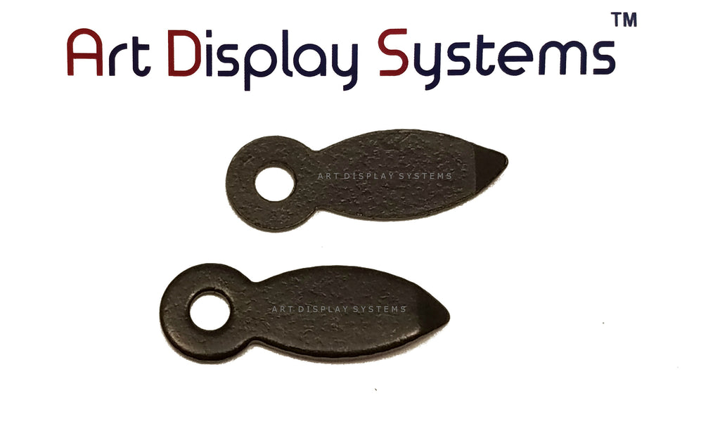 "ADS 5/8"" Inch Flat BLK Turnbutton - No Screws- 100 Pack - ART DISPLAY SYSTEMS"