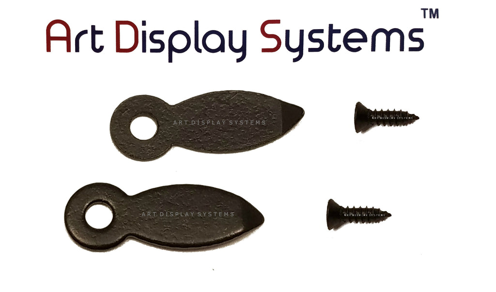 "ADS 5/8"" Inch Flat BLK Turnbutton - 100 3-3/8"" Black Screws - 100 Pack - ART DISPLAY SYSTEMS"