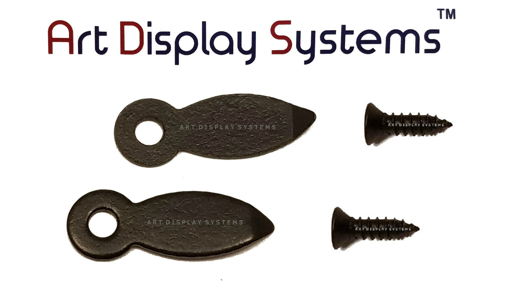 "ADS 5/8"" Inch Flat BLK Turnbutton - 100 4-1/2"" Black Screws - 100 Pack - ART DISPLAY SYSTEMS"