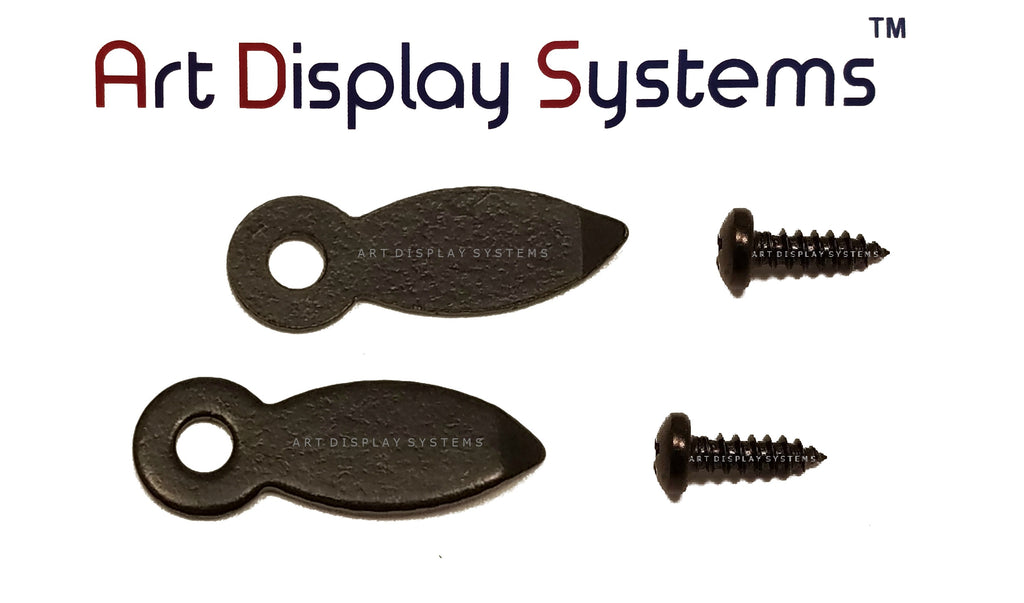 "ADS 5/8"" Inch Flat BLK Turnbutton - 100 2-1/4"" Black Screws - 100 Pack - ART DISPLAY SYSTEMS"