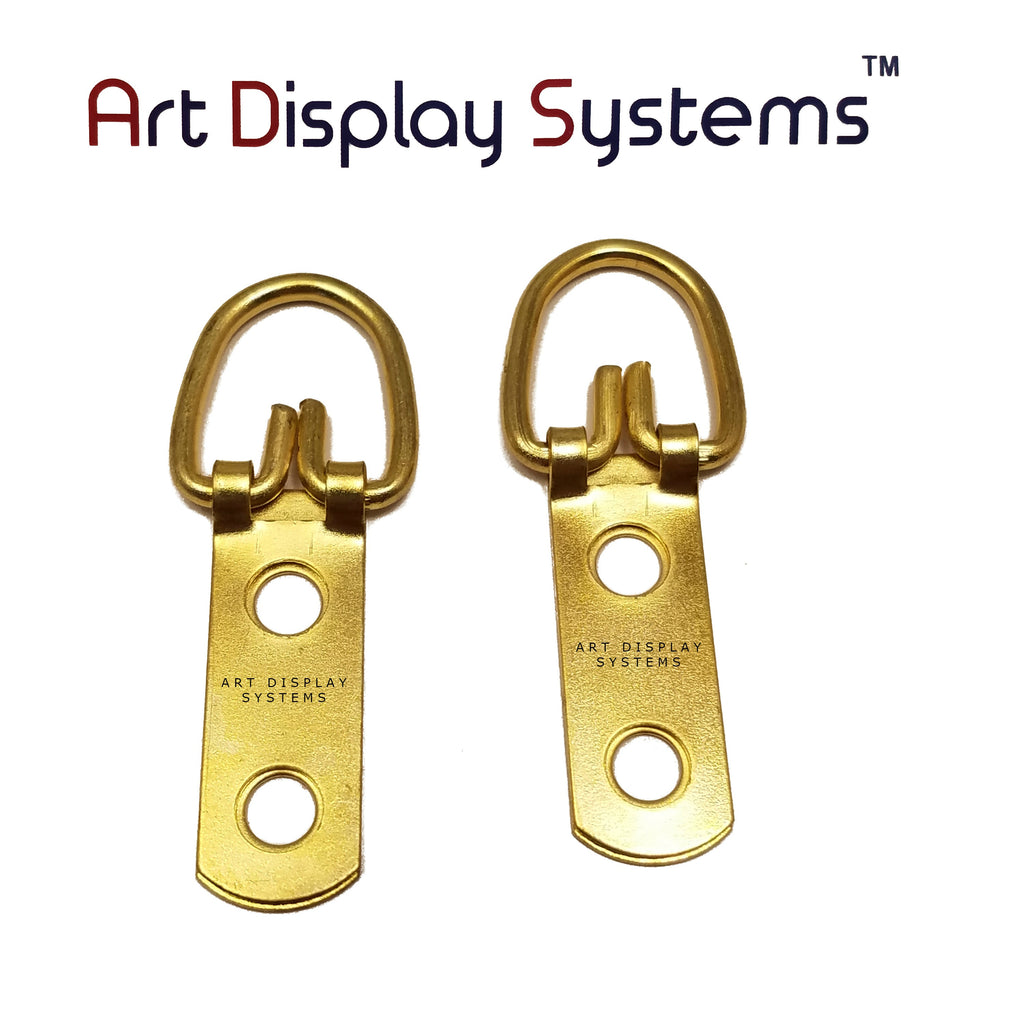Art Display Systems 2 Hole Narrow BP D-Ring Hanger– No Screws – Pro Quality – 100 Pack - ART DISPLAY SYSTEMS