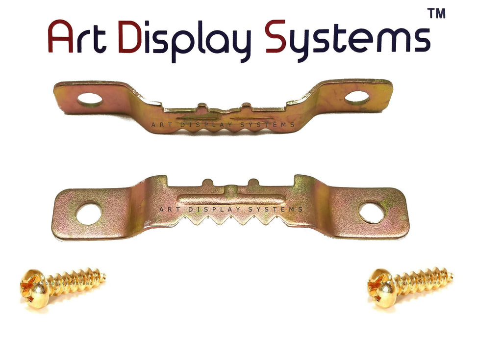 ADS Small BP Sawtooth Hanger with Screws – Pro Quality - 100 Pack - ART DISPLAY SYSTEMS