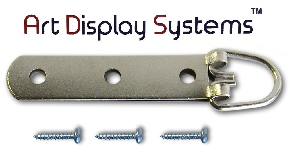 ADS Heavy Duty 3 Hole Large D-Ring Strap Hanger - 30 Pack - ART DISPLAY SYSTEMS