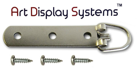 "3-Hole Heavy Duty Large D-Ring Hanger with #8-1/2"" Screws"