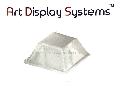 Art Display Systems Clear Square (0.5 x 0.23) Self-Adhesive Protective Bumper Pads – Pro Quality - ART DISPLAY SYSTEMS