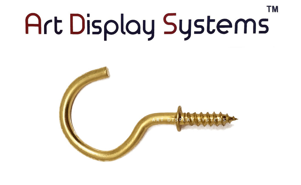 ADS Large Brass Cup Hook – Pro Quality – 20 Pack