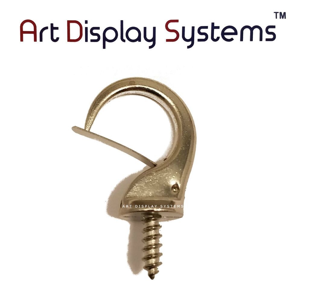 ADS Large Zinc Security Cup Hook – Pro Quality – 15 Pack - ART DISPLAY SYSTEMS