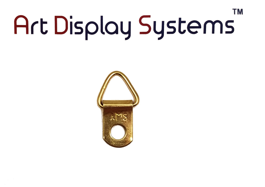 AMS 1 Hole Triangle BP D-Ring Hanger– No Screws – 100 Pack by Art Display Systems - ART DISPLAY SYSTEMS