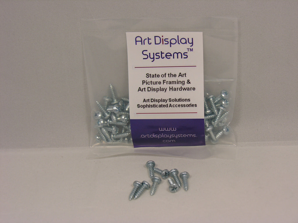 "Heavy Duty D-Ring Picture Hangers with #6-1/2"" Screws - ART DISPLAY SYSTEMS"