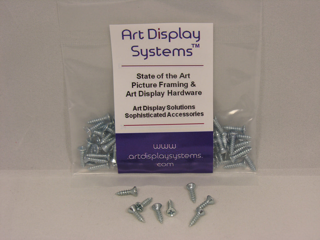 "Triangle D-Ring Strap Hangers with #4-1/2"" Screws - ART DISPLAY SYSTEMS"