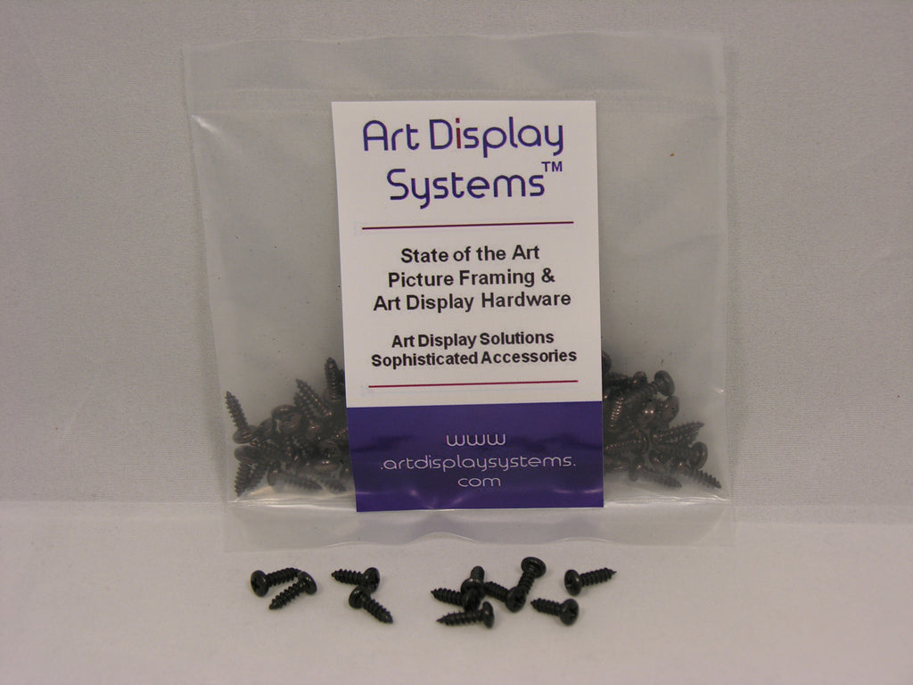 "ADS #4-3/8"" Black Plated Screws - ART DISPLAY SYSTEMS"