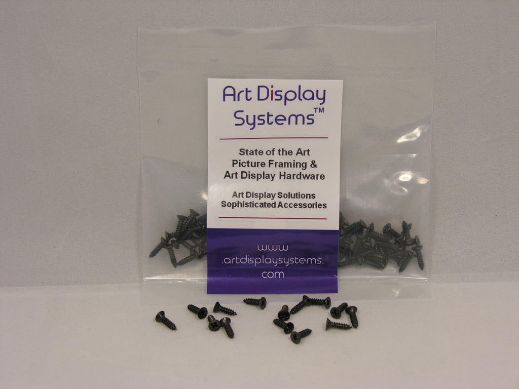 "ADS #3-3/8"" Black Plated Screws - ART DISPLAY SYSTEMS"