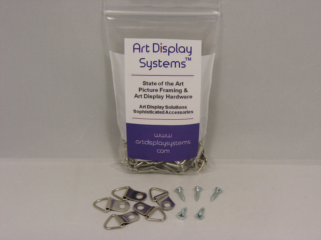 "Triangle D-Ring Strap Hangers with #4-1/2"" Screws"