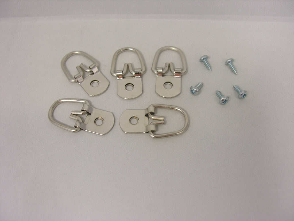 "Heavy Duty D-Ring Picture Hangers with #6-3/8"" Screws - ART DISPLAY SYSTEMS"