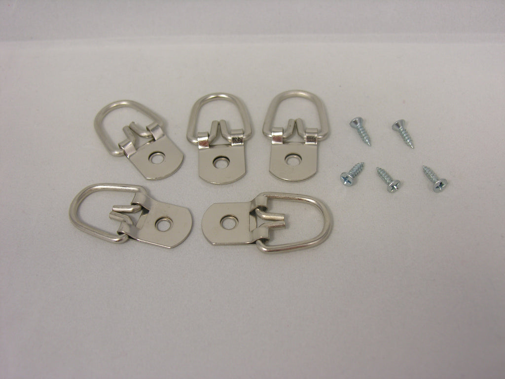 "Heavy Duty D-Ring Picture Hangers with #4 1/2"" Screws - ART DISPLAY SYSTEMS"