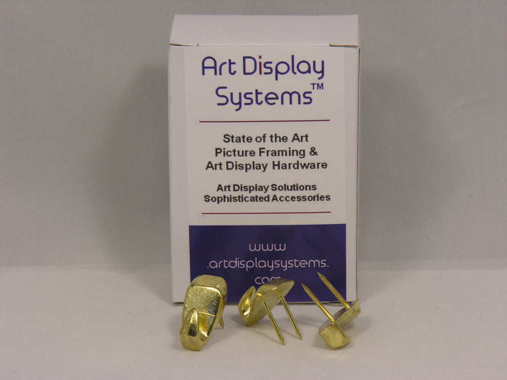 Brass Plated 40 LB Push Pin Hangers - ART DISPLAY SYSTEMS