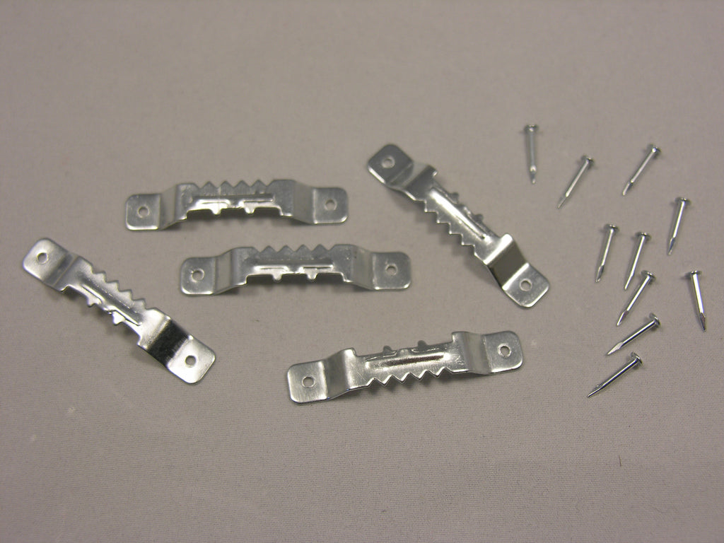 "Zinc Plated 1-7/8"" Sawtooth Hanger with Nails"