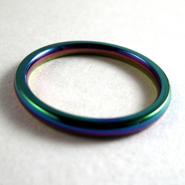 2mm Multichrome Rings - US Sizes 5 to 13