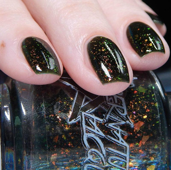 On Darker Tides (Green Polish Forever FB Group Custom) - Overpours