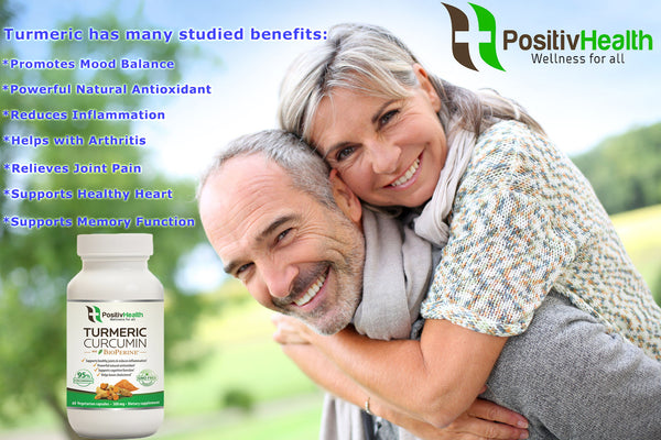 Benefits of PositivHealth Turmeric Curcumin