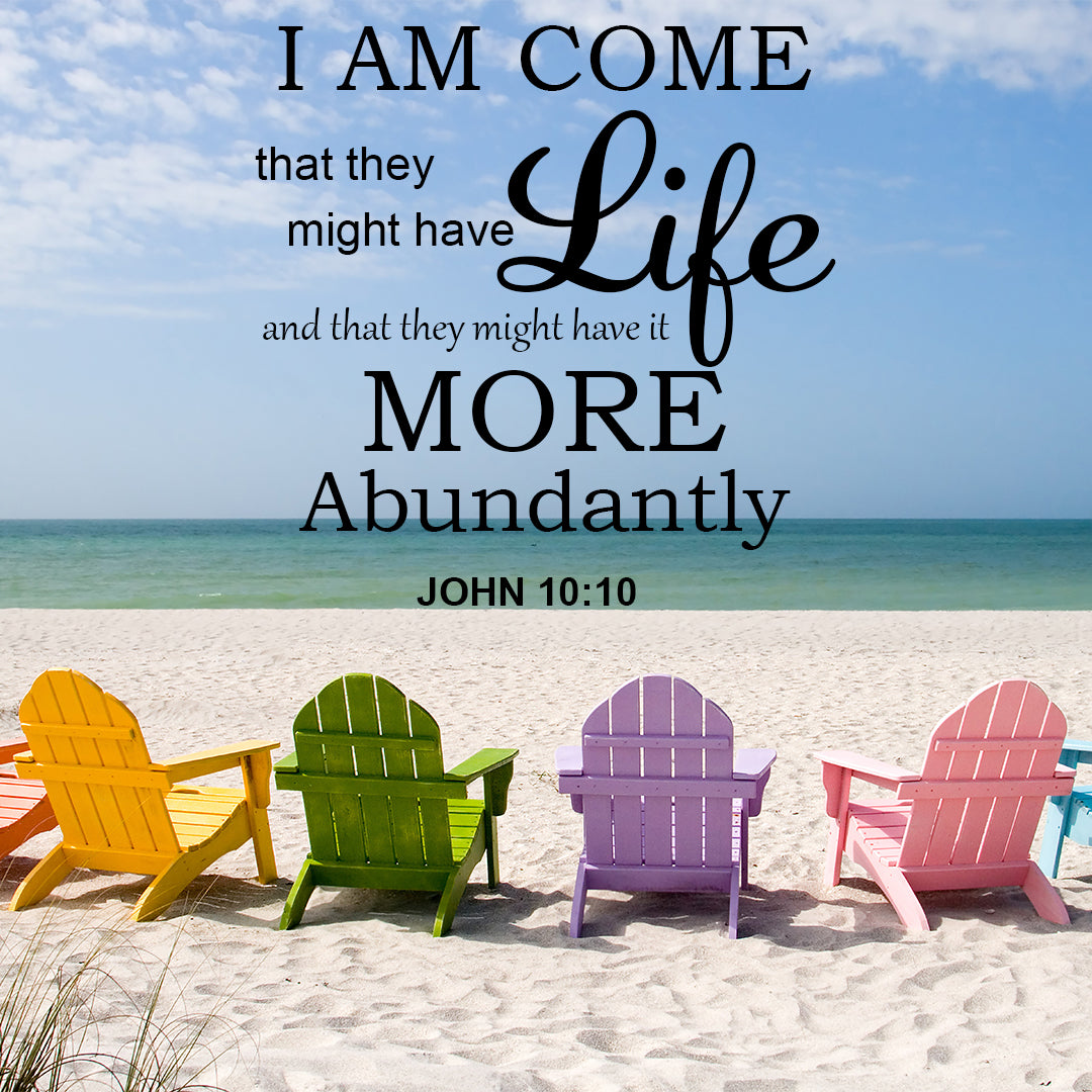 Inspirational Verse of the Day - Life More Abundantly