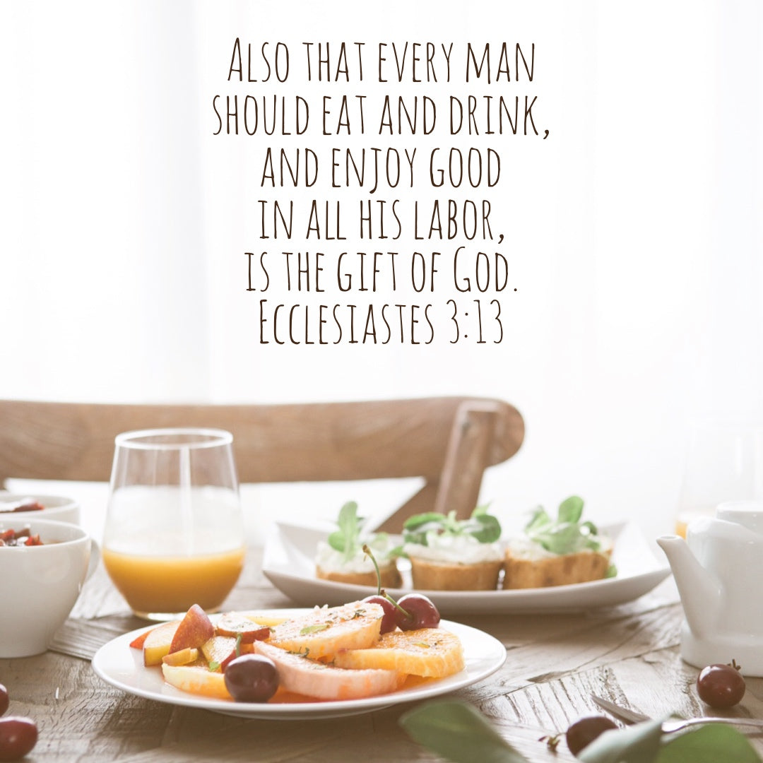 Ecclesiastes 3:13 - Enjoy Good in Your Labor