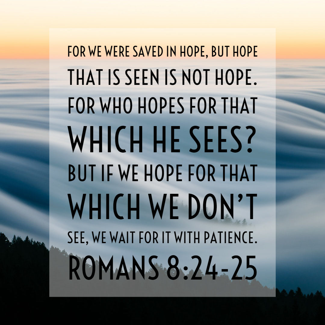 Romans 8:24-25 - Saved in Hope