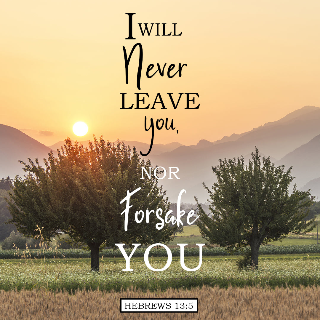 Hebrews 13:5 - Never Leave You - Bible Verses To Go