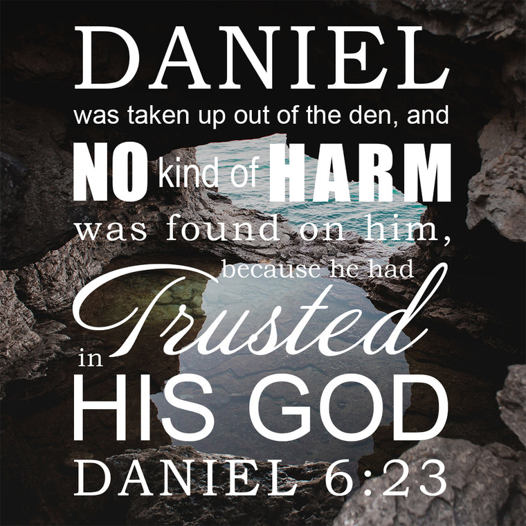 Daniel 6:23 - Trusted in His God