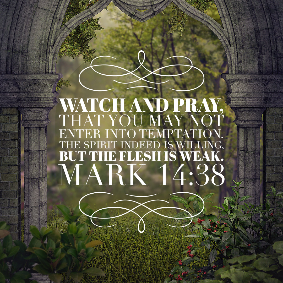 Mark 14:38 - Watch and Pray - Bible Verses To Go