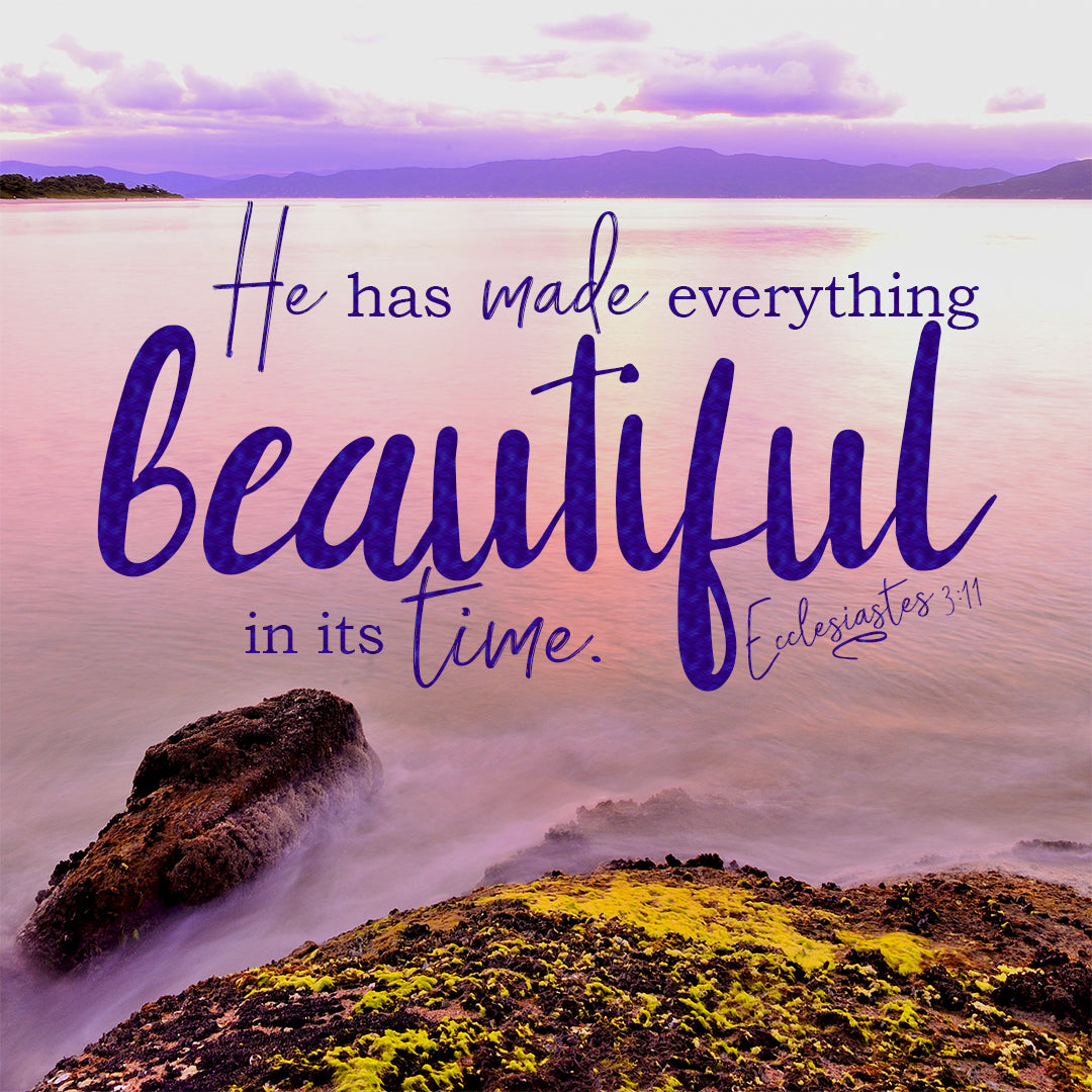 Ecclesiastes 3:11 - Everything Beautiful in its Time - Bible Verses To Go