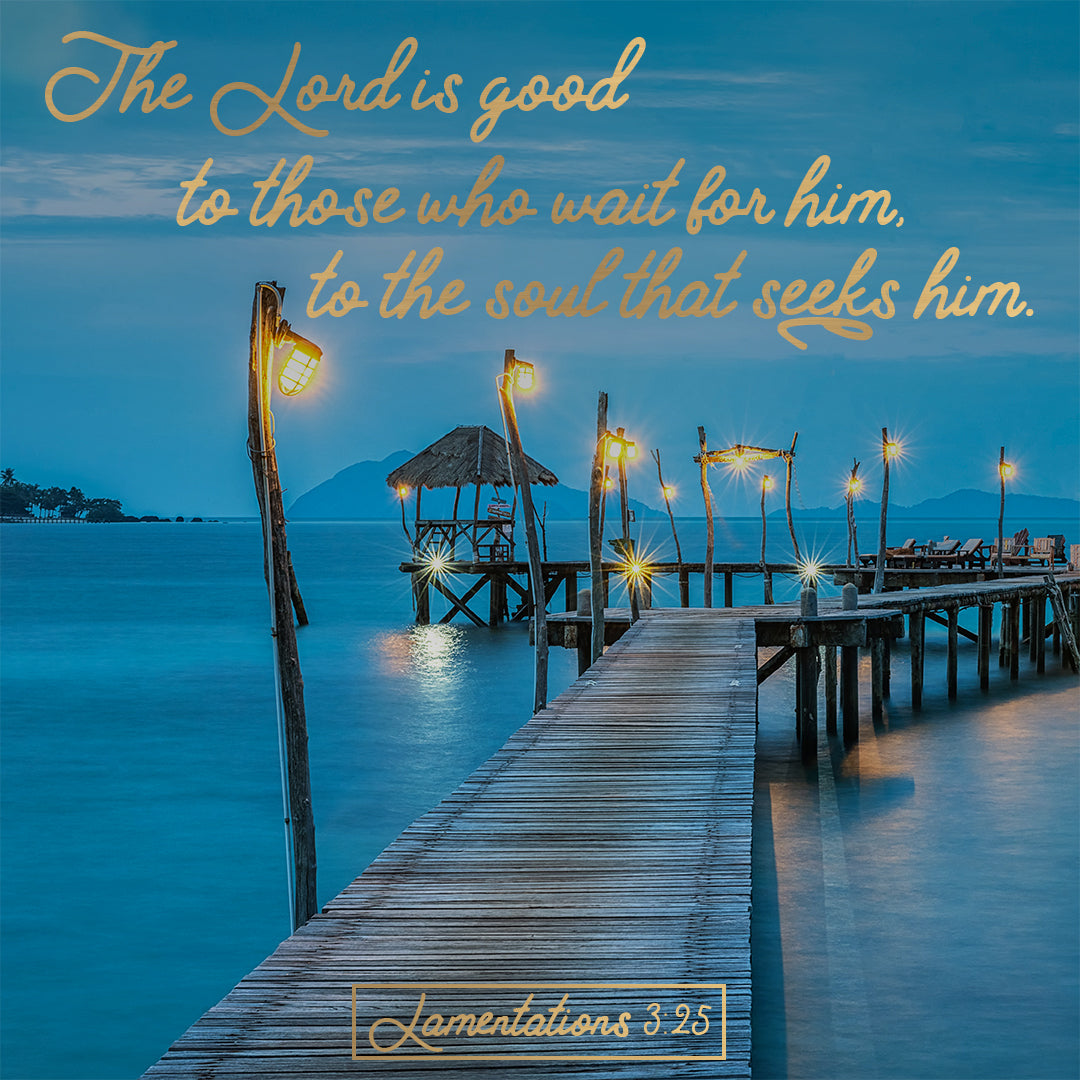 Lamentations 3:25 - The Lord is Good - Bible Verses To Go