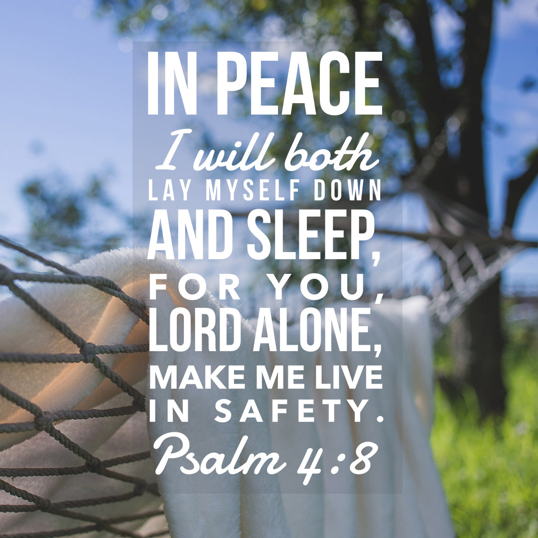 Psalm 4:8 - Live in Safety - Bible Verses To Go