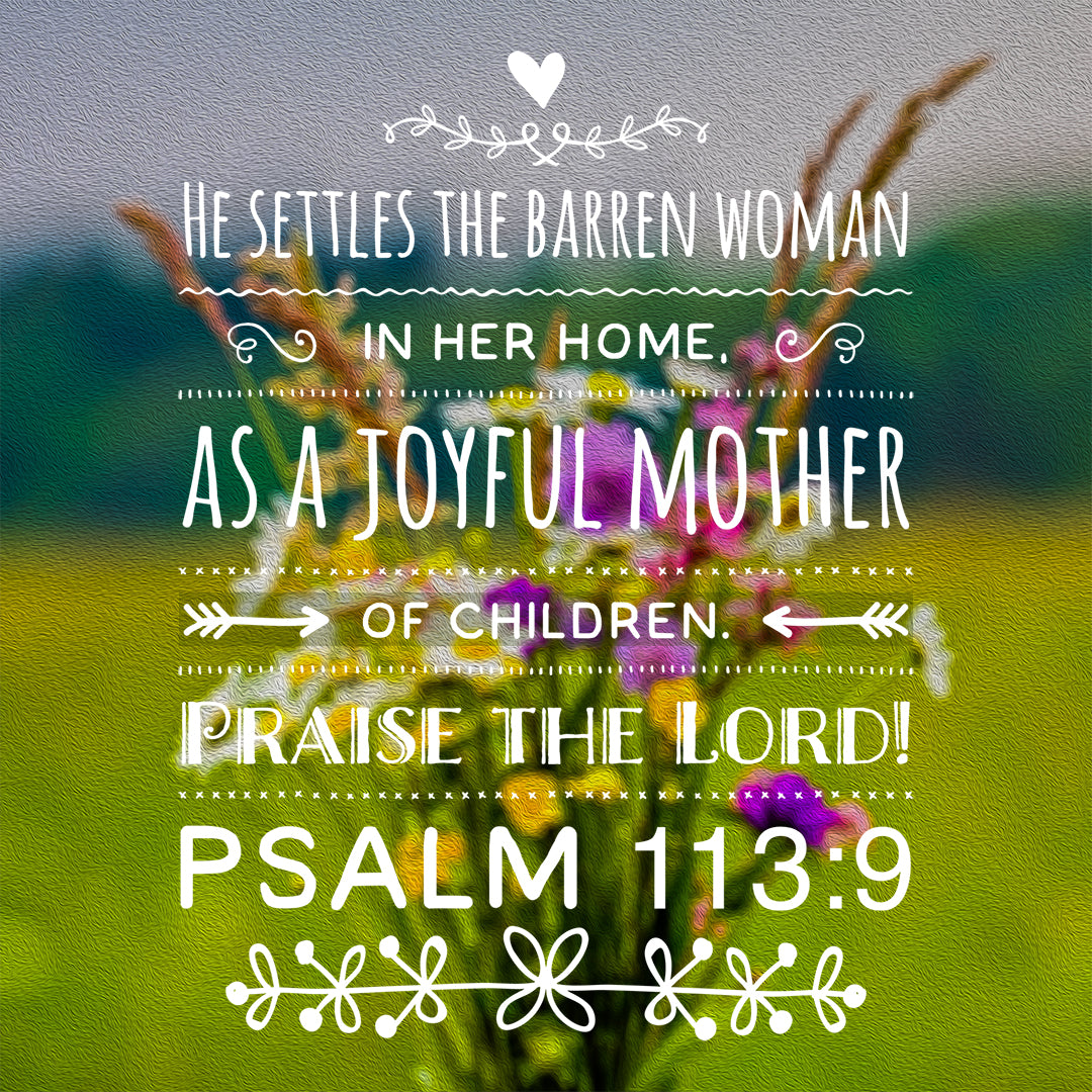 Psalm 113:9 - Joyful Mother - Bible Verses To Go