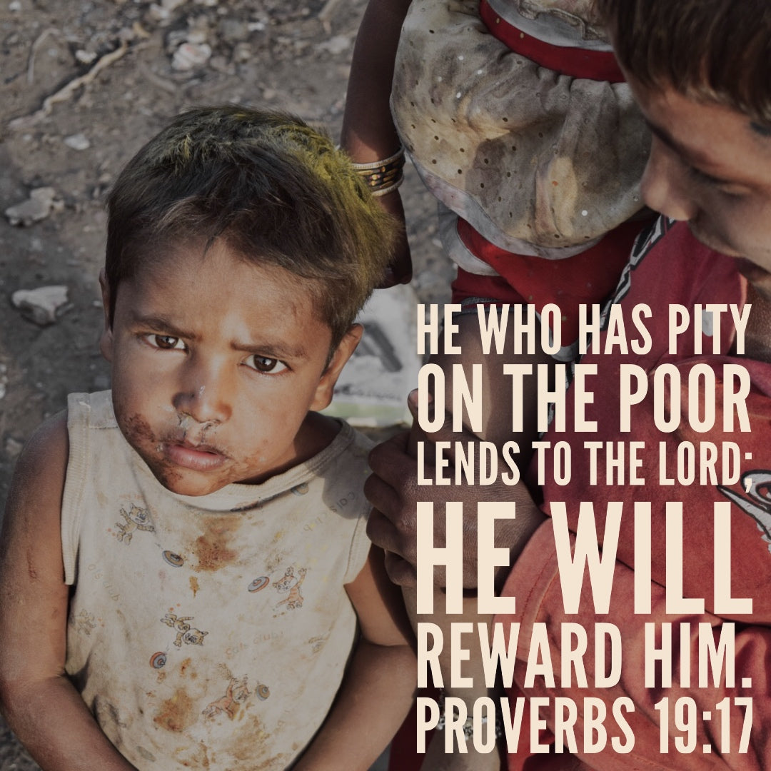 Proverbs 19:17 - Lend to the Lord - Bible Verses To Go