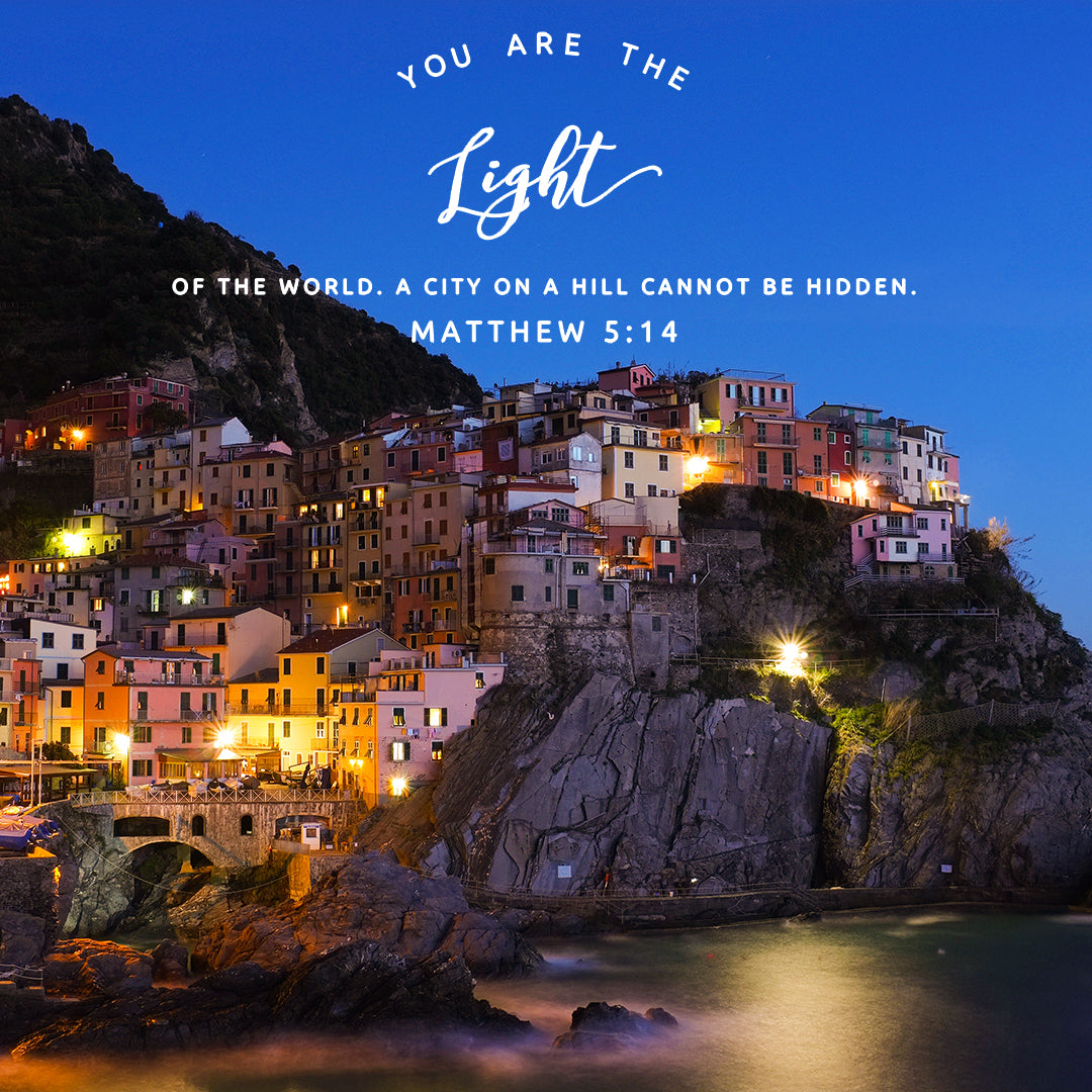 Matthew 5:14 - Light of the World - Bible Verses To Go