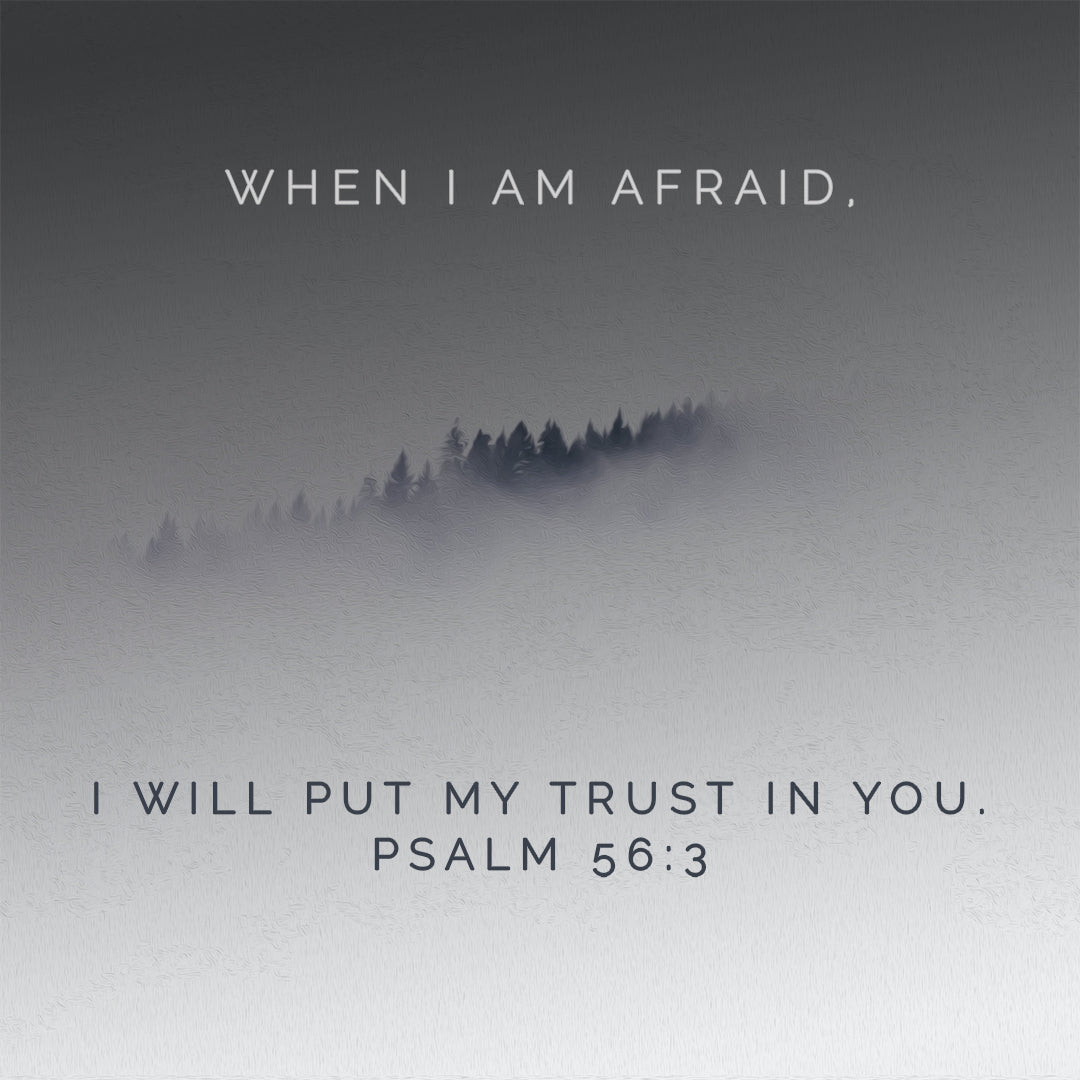 Psalm 56:3 - When I Am Afraid - Bible Verses To Go