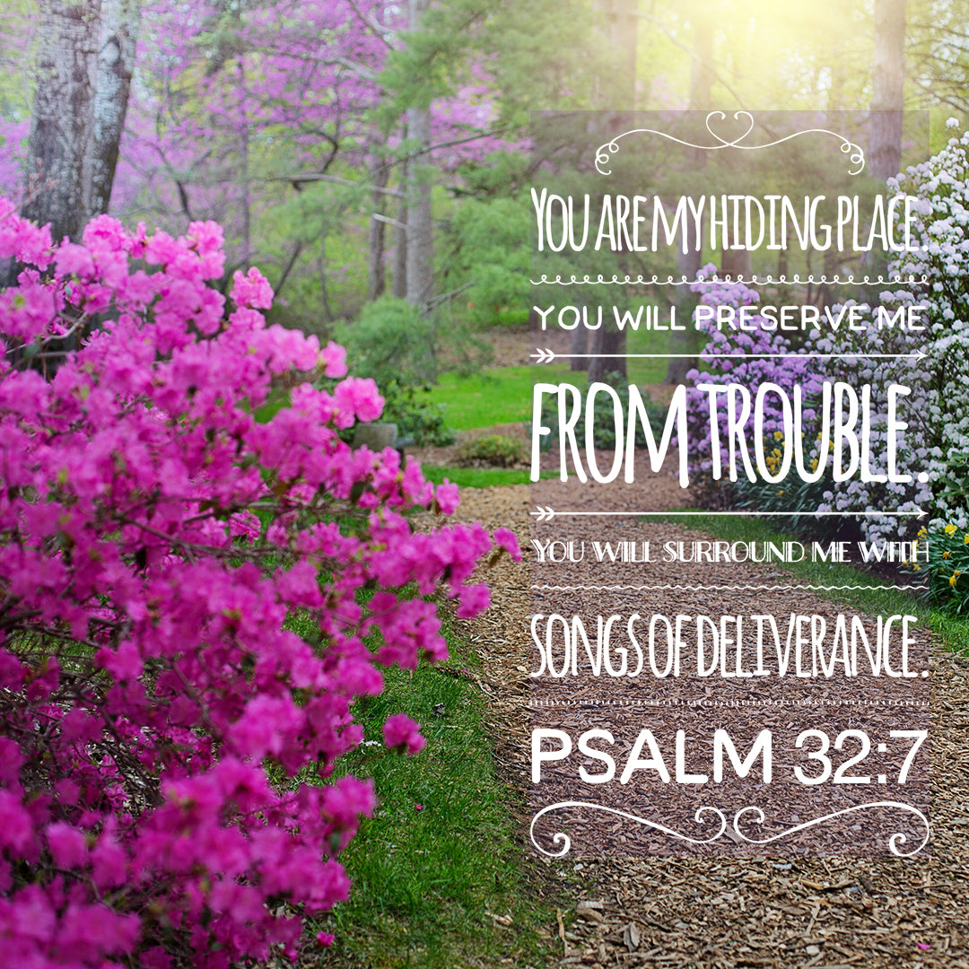 Psalm 32:7 - My Hiding Place - Bible Verses To Go